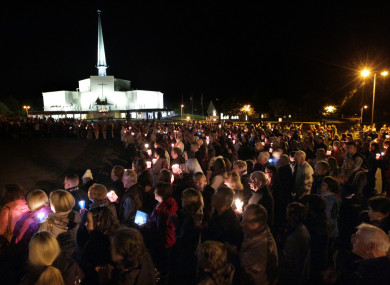 The candlelit rosary procession at Knock during the 2015 Novena Week.