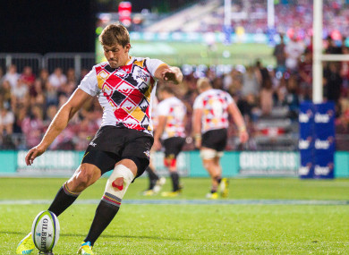 Southern Kings' Louis Fouche kicks at goal in 2016.