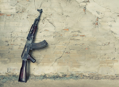 Submachine gun kalashnikov which was one of the weapons used in the murders.
