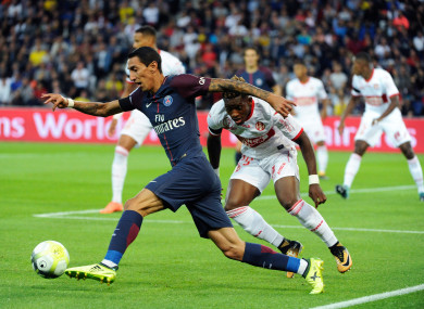 Di Maria in action for PSG.