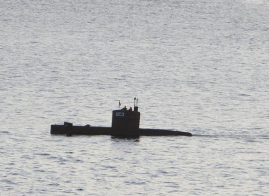 Danish submarine Nautilus in Copenhagen during the search