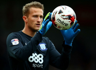 The goalkeeper had been with Preston.