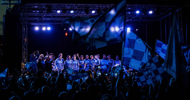 In pics: Smithfield turns blue as thousands celebrate Dublin's three-in-a-row