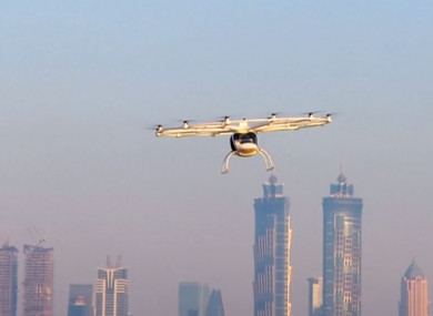 The air taxi had its first test flight in Dubai.