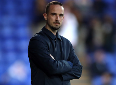 England manager Mark Sampson during the FIFA 2019 Women's World Cup qualifying match against Russia at Prenton Park, Birkenhead last night.