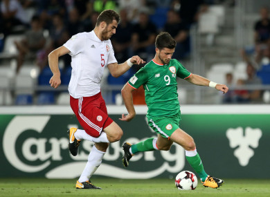 Shane Long saw little of the ball as Georgia enjoyed the lion's share of possession.