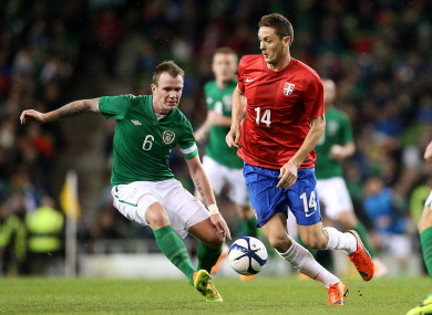 Matic and Glenn Whelan when the sides met in 2014.