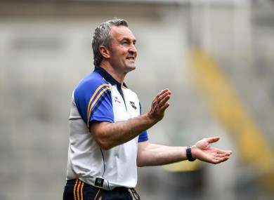 Michael Ryan led the Tipp hurlers to the All-Ireland semi-finals this year.