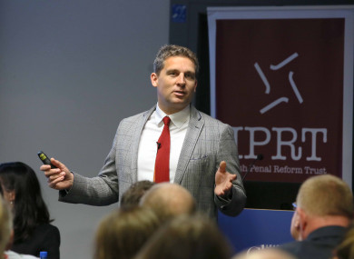 Chief Executive of the Timpson Group, James Timpson speaks at the IPRT seminar earlier this week.