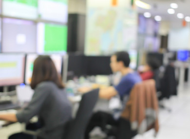 Stock image of a call centre.