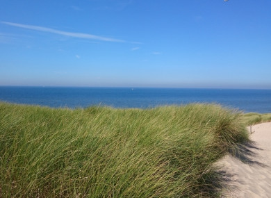 The North Sea coast near Egmond aan Zee, Netherlands.