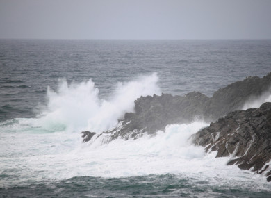 File Photo: Stormy seas in Cork