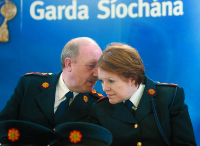 The previous two commissioners - Martin Callinan and Nóirín O'Sullivan.