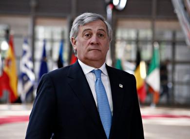The President of the European Parliament Antonio Tajani