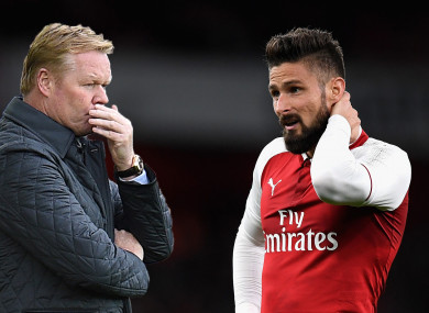 Ronald Koeman feels missing out on Olivier Giroud was a serious blow to Everton.