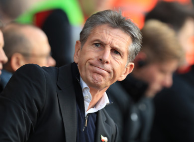 New Leicester City boss Claude Puel.