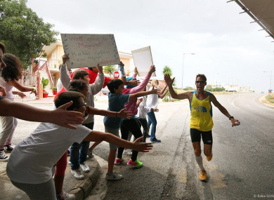 Karnazes, 55, stars in new film The Road to Sparta.
