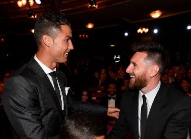 Cristiano Ronaldo and Lionel Messi.