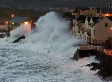Storm Ophelia blasted Lahinch in Co Clare with severe waves and winds yesterday