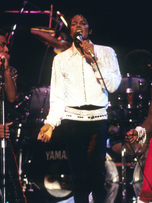 File photo as Michael Jackson performs during his 'Victory' Tour on July 14, 1984 at the Texas Stadium in Dallas, Texas.