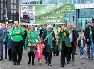 Campaigners marched in the St Patrick's Day parade in Manchester this year to highlight their causes.