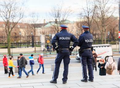 Police in Vienna, Austria.