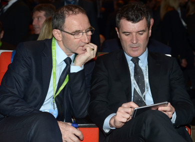Martin O'Neill and Roy Keane will be in Zurich to discover Ireland's opponents.
