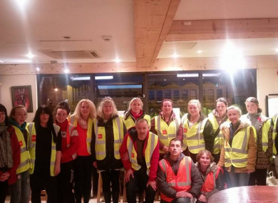 Volunteers ready to go out and direct rough sleepers to shelter in the Three Little Piggies café