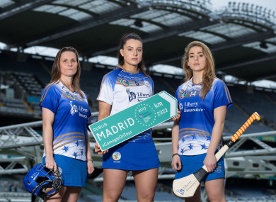 Aoife Murray, Rebecca Hennelly and Aisling Maher at today's launch.