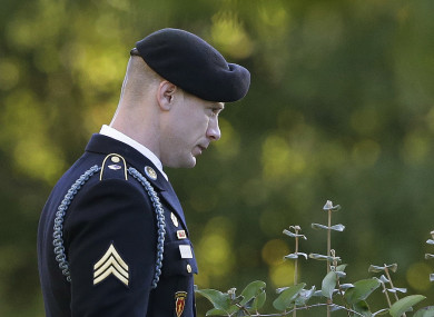 Bowe Bergdahl leaves the Fort Bragg courtroom facility