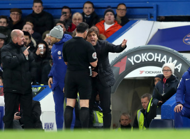 Conte was sent to the stands.