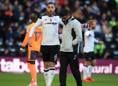 Keogh: lasted just eight minutes against Reading.