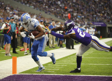 The Lions already have a win over the Vikings this season.
