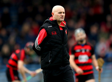 Disappointment for Ballygunner hurling manager Fergal Hartley.