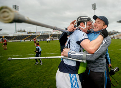 Na Piarsaigh's Kevin Downes and Shane Dowling get to celebrate another Munster title.