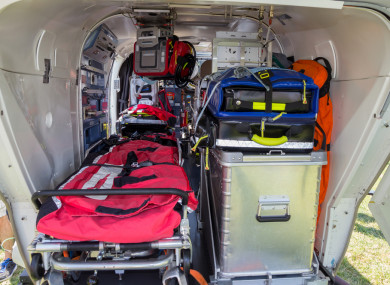 File photo of the interior of a rescue helicopter