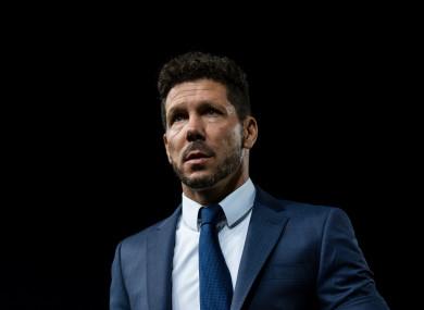 Atletico Madrid manager Diego Simeone.