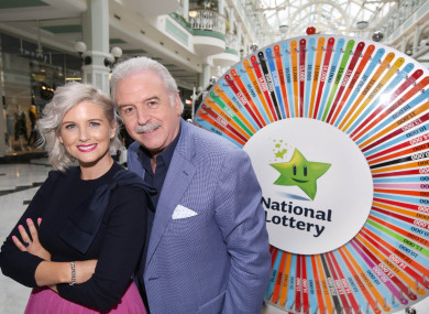 Winning Streak hosts Sinead Kennedy and Marty Whelan