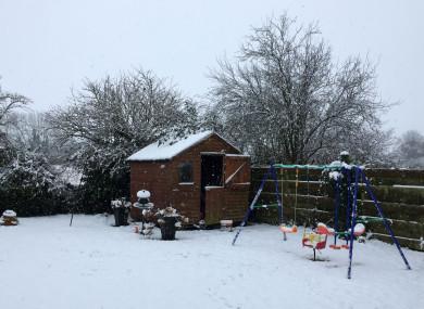 Snow scenes in Portlaoise, Co Laois.