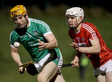 Limerick's Seamus Flanagan alongside David Griffin.