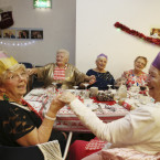 Ellen Quinn and Pauline Lawless at the Friends of the Elderly Christmas Dinner<span class=