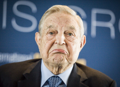US billionaire philanthropist George Soros.