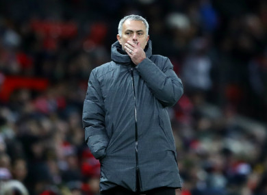 Man United boss Mourinho.