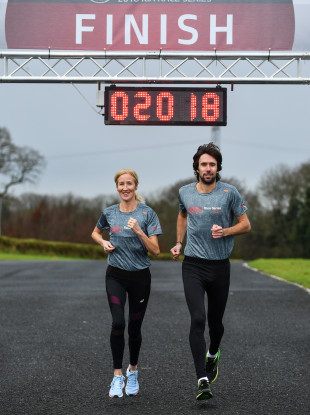 Olympians Catherina McKiernan and Mick Clohisey launched the Kia Race Series yesterday.