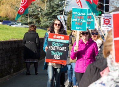 SIPTU members working in Section 39 organisations protest over pay issues