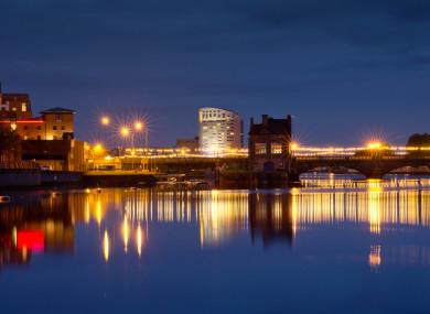 Limerick city by night.