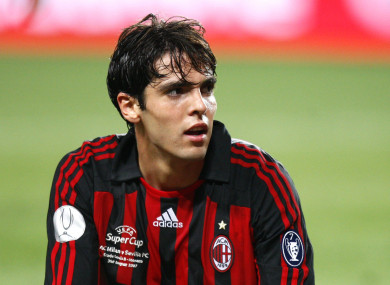 Kaka won Serie A and the Champions League during his first spell at AC Milan.