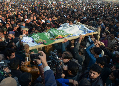 The funeral of the eight-year-old girl who was raped and killed