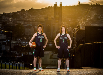 Gráinne and Niamh Dwyer are both aiming to help their respective sides make history at the National Basketball Arena later today.