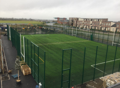 The astroturf pitch at the town's community centre.